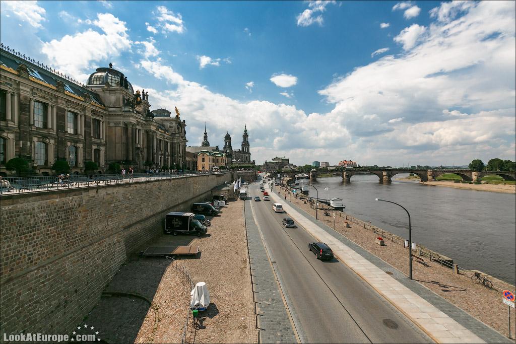 Дрезден, Балкон Европы, терраса Брюля