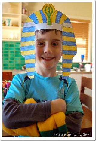 King Tut Headdress ~ Our Aussie Homeschool