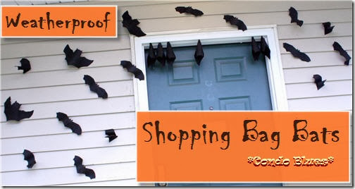 Condo Blues: How to Make Outdoor Flying Bat Halloween