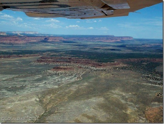 Grand Staircase Escalante from the air