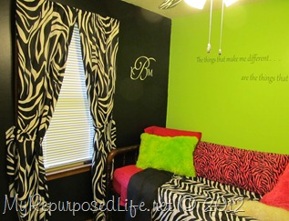 Teen Room Makeover (Zebra Print) (32)
