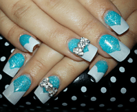 The gallery for --> Tiffany Blue Acrylic Nails