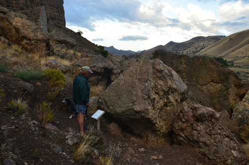 hunting for more fossils in the rocks