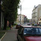 Coming down Bożogrobców Street to Krajcok (intersection with Siemianowicka Street).