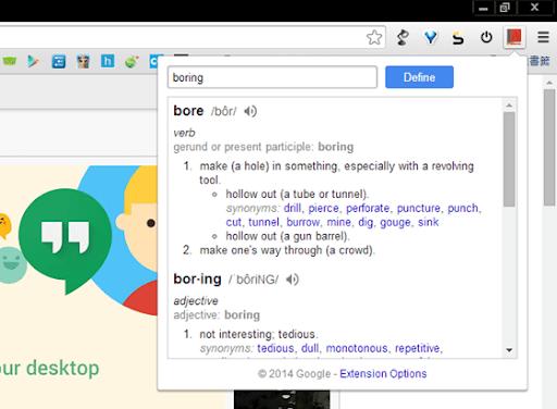 [ Chrome 套件 ] Google Dictionary,多國語言即時翻譯,還可以點擊詞彙自動翻譯! - 無聊詹軟體資訊站