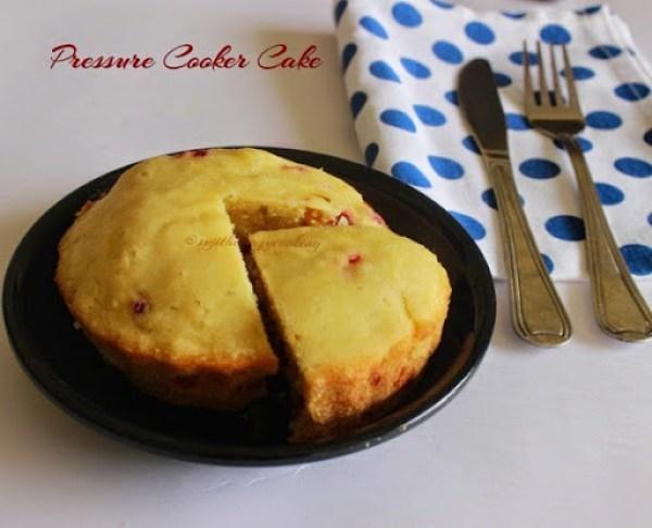 Butterscotch Cake Recipe In Pressure Cooker: Pressure Cooker Cake/No Butter Pressure Cooker Cake