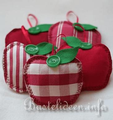 Maçãs lindas de tecido