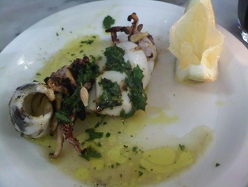 squid with salsa verde