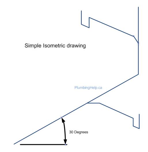 Plumbing Contractor Los Angeles: Isometric plumbing sketch