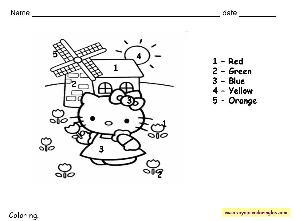 Yummy English for Children: Colours worksheets!!!