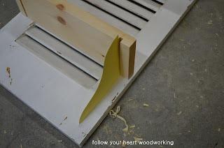 Repurposed Shutter Shelf 4