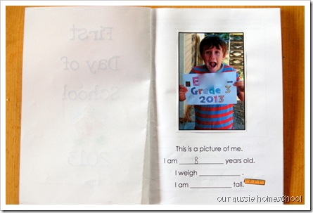 First Day of School Booklet ~ Our Aussie Homeschool