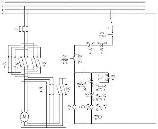 wye delta starter schematic