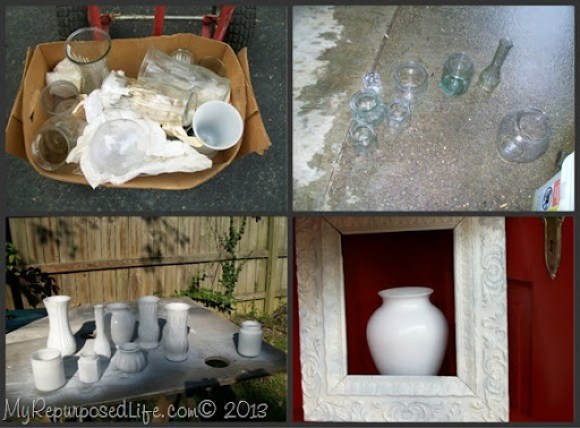 My Repurposed Life-thriftstore glassware gets a makeover with spray paint