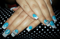 Aqua Blue Acrylic Nails | www.imgkid.com - The Image Kid ...