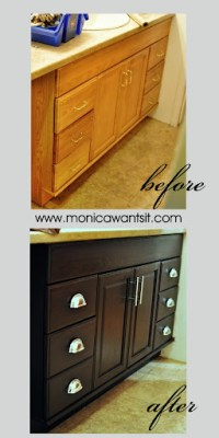 Staining Oak Cabinets an Espresso Finish {FAQs} | Monica ...