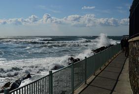 Cliff Walk in Newport, Rhode Island