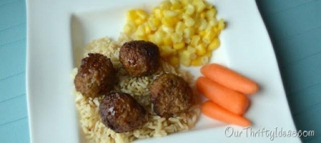Our Thrifty Ideas: Crockpot Peachy Meatballs