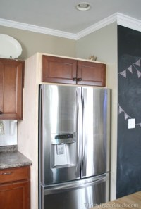 Building in a Fridge With Cabinet on top from Thrifty ...