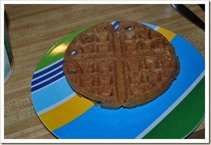 waffle cooked