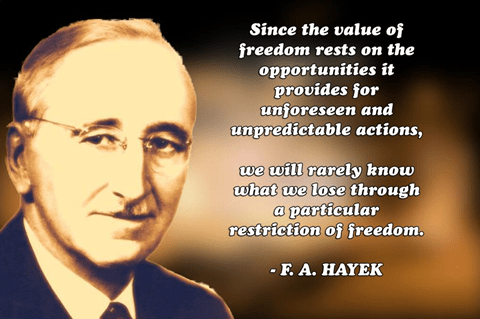 Hayek on freedom and Opportunity Cost