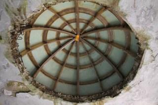 バッチャープラント跡の天井