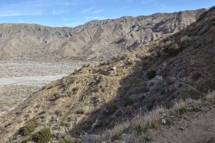 switchbacks on the Whitewater Canyon Loop Trail