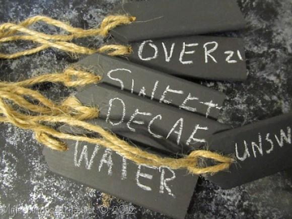 Chalkboard Beverage Tags