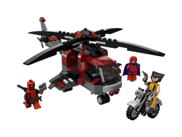Wolverine Magneto Deadpool LEGO Chopper