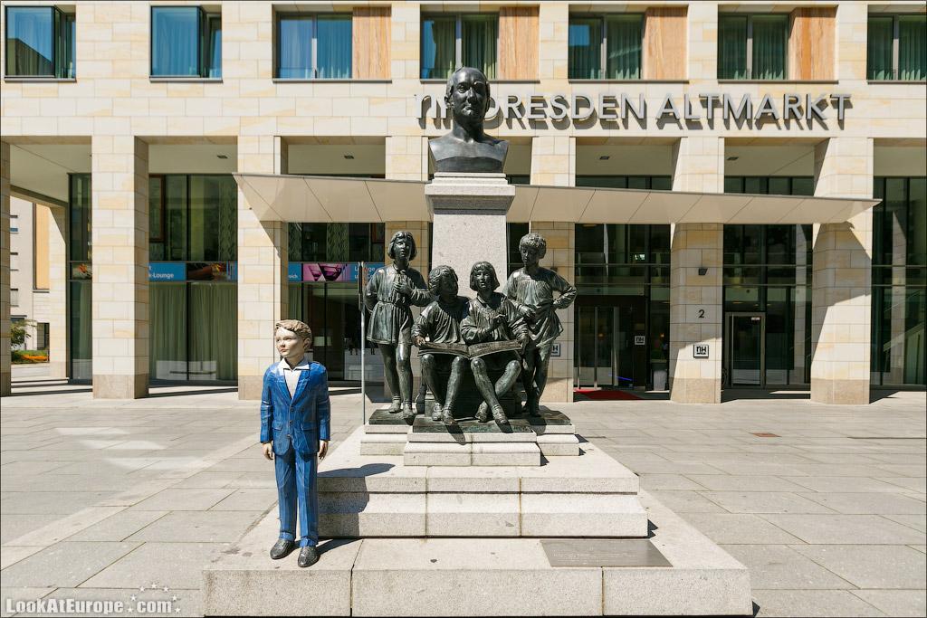 Дрезден, памятник хору мальчиков Кройцхор