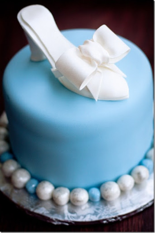 Cinderella Shoe Cake Topper for a Cinderella themed Birthday Party.