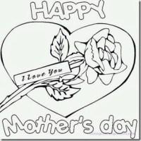 Dibujos en ingls para colorear da de las Madres