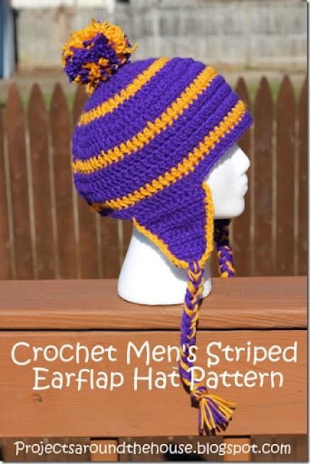 8e8b8fb93d2 Crochet Men s Striped Earflap Hat Pattern - Renewed Claimed Path