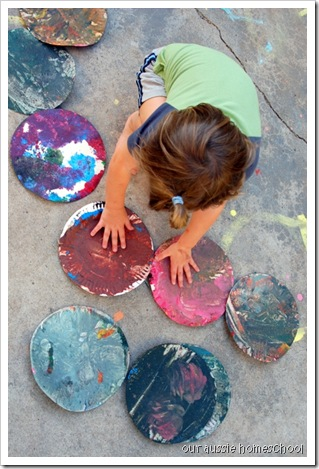 Footprint Art ~ Our Aussie Homeschool
