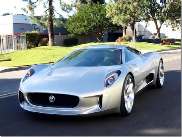 Jay Leno and Jaguar C-X75 Concept