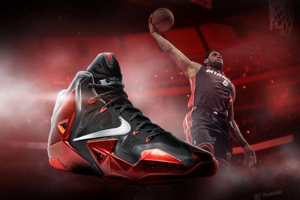 New Red Metallic James Sneaker Lebron 11