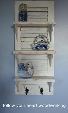 repurposed shutter shelf