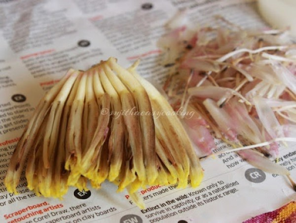 Cleaning bananah flower6