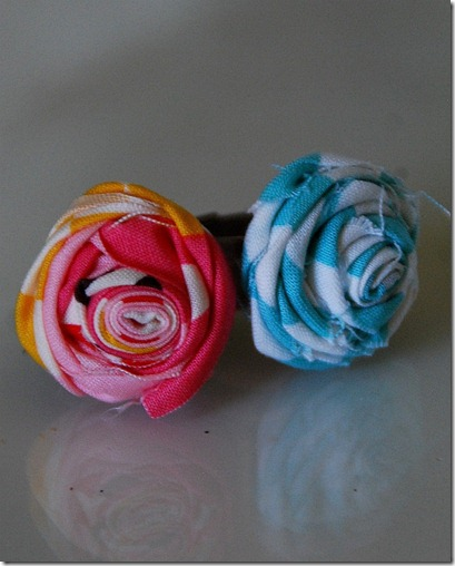 rolled flower rings