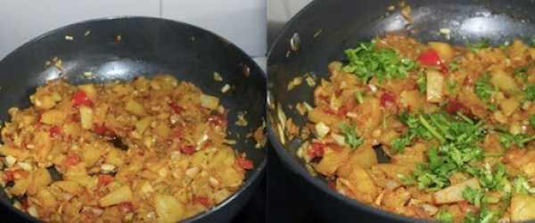 Cabbage Aloo Fry step 6