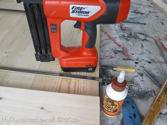 using a nail gun instead of a clamp