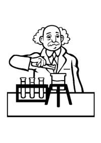 Dibujo Para Colorear Tcnico De Laboratorio