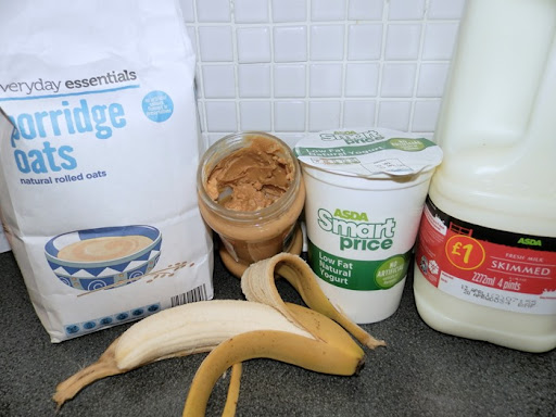 Overnight oats ingrediants