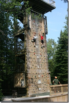 Boys on the climbing wall