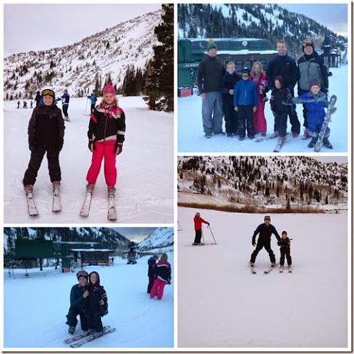 Alta ski Christmas EveCollage