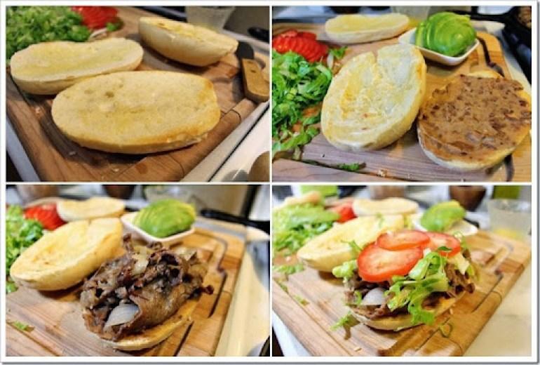 Steak Sandwich-Torta de Bistec 3a