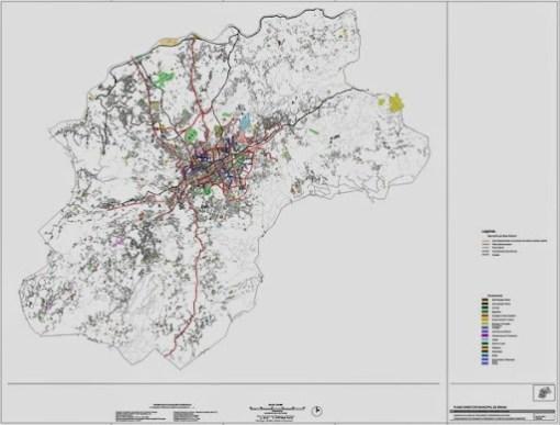 Geometria da Rede de Percursos e Corredores Cicláveis - Mapa com a proposta dos ciclistas urbanos de Braga