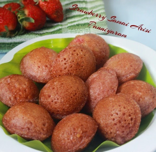 Strawberry Samai Arisi Panniyaram1