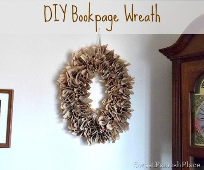 DIY Bookpage Wreath11