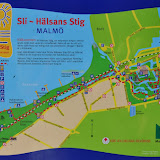 Hälsans Stig (The Path of Health), Malmö 9 km track along yacht harbour, beach and several parks.